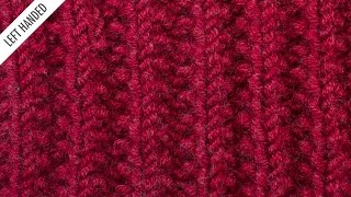 The Mistake Rib Stitch :: Knitting Stitch #529 :: Left Handed