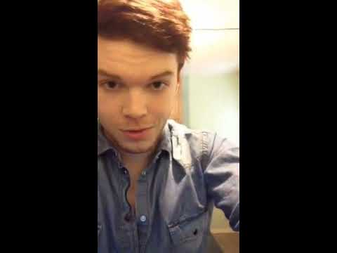 Cameron Monaghan Periscope live stream 12