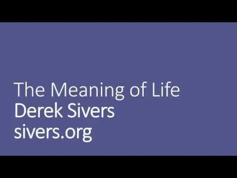 Meaning of Life by Derek Sivers