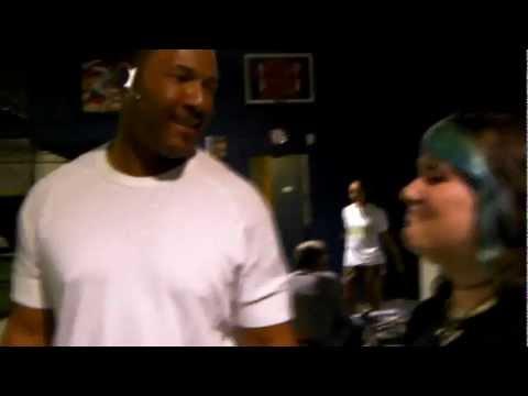 Melissa meets baseball legend Gary Sheffield