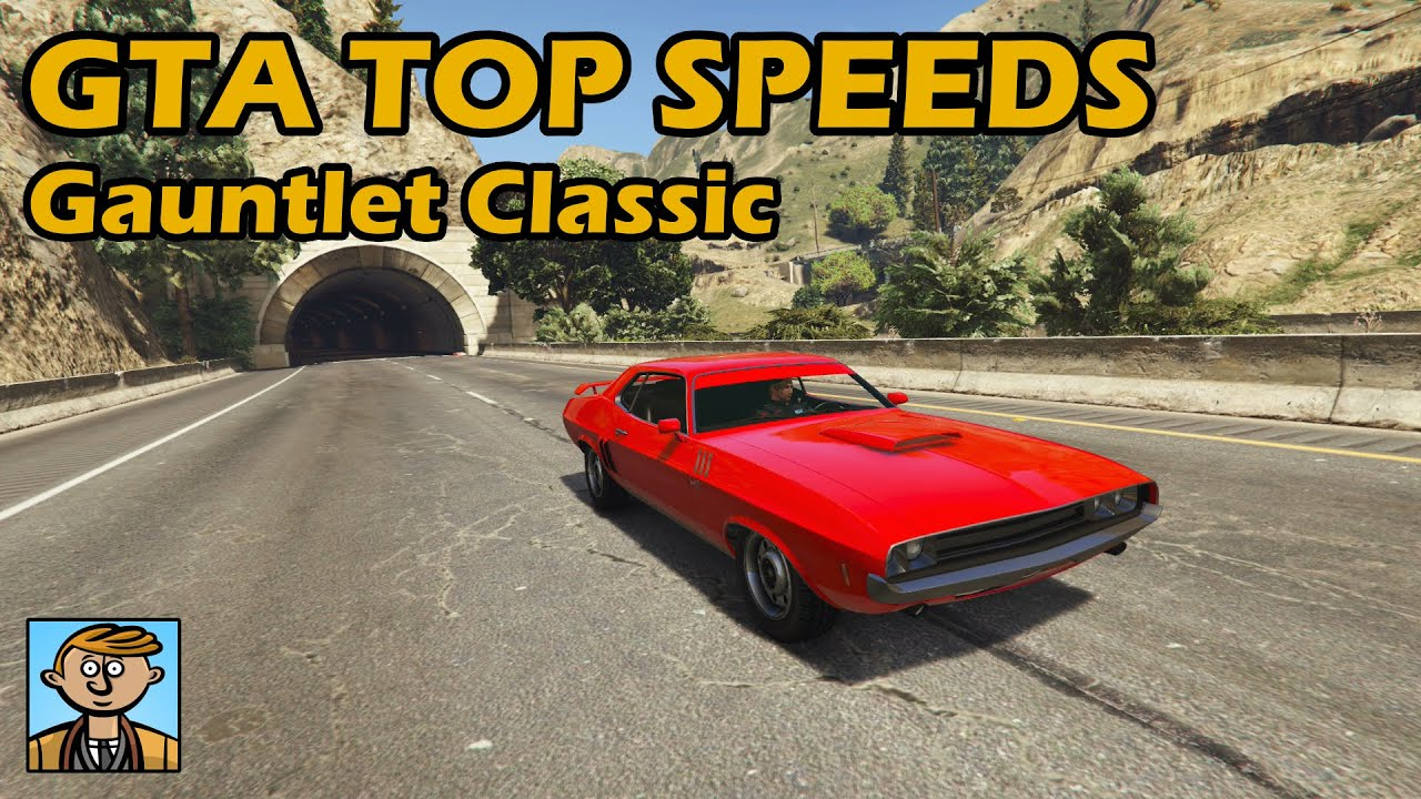 Fastest Muscle Cars (Gauntlet Classic & Slamvan)- GTA 5 Best Fully Upgraded  Cars Top Speed Countdown