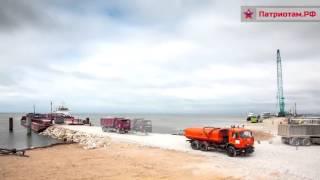 Испытание свай и строительство рабочего моста в Крым - таймлапс видео(Канал