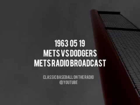 1963 05 19 New York Mets vs Dodgers (Lindsey Nelson, Ralph Kiner & Bob Murphy)