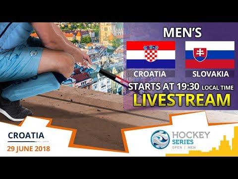 Croatia V Slovakia   2018 Men's Hockey Series Open Zagreb   FULL MATCH LIVESTREAM