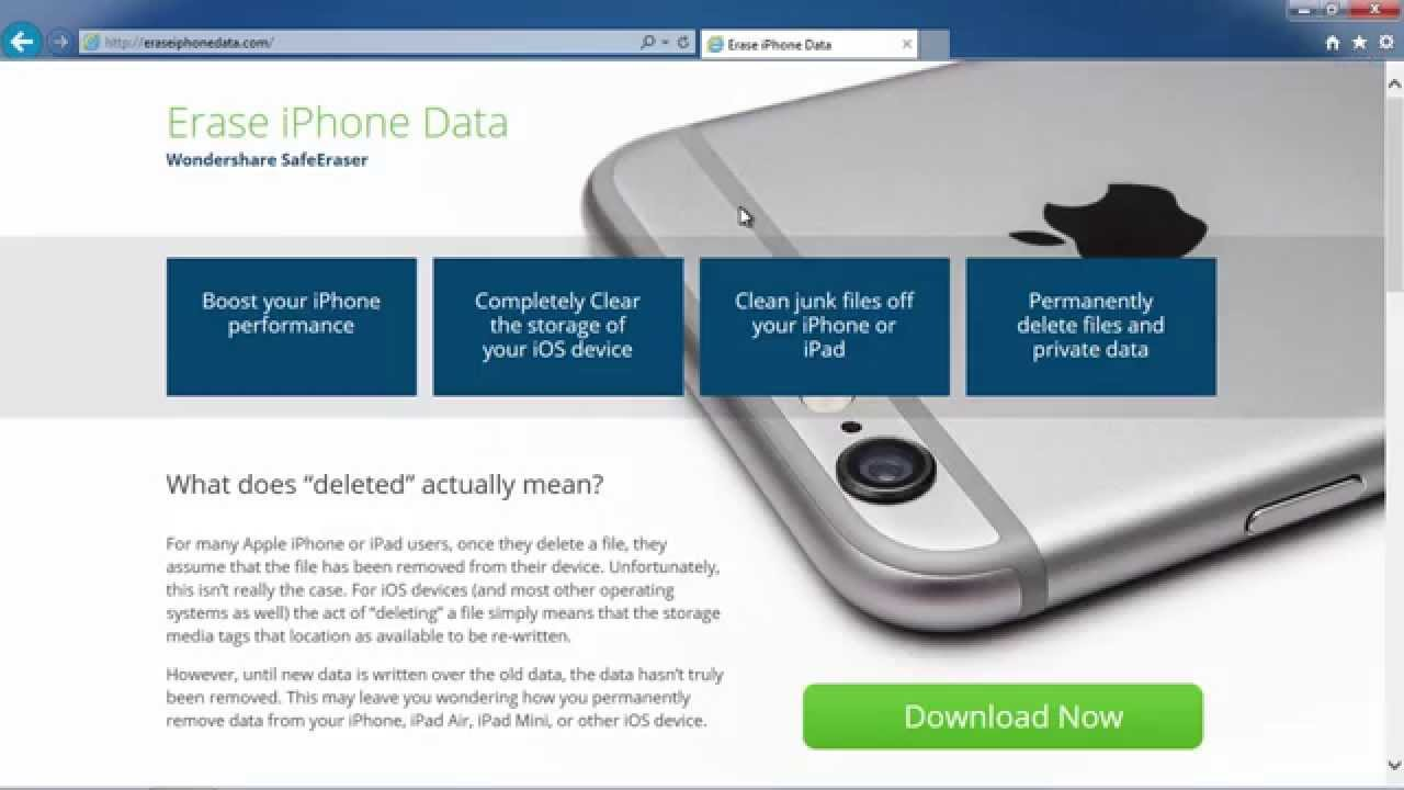 wondershare safeeraser for iphone