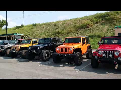Great Smoky Mtn. Jeep Invasion 2017....Pigeon Forge, TN. (Parking area)