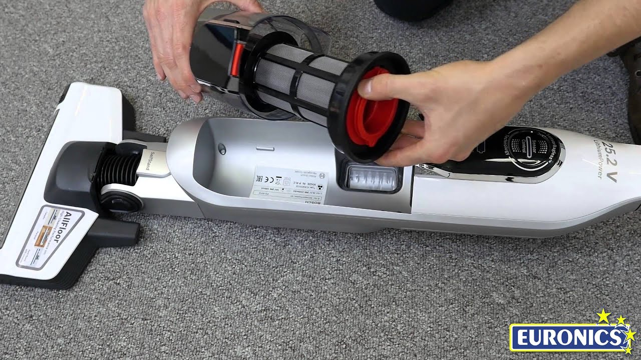 Bosch Athlet 25.2V 無線直立吸塵器- YouTube