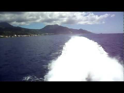 [Dominique] Départ depuis le catamaran l'Express des Iles