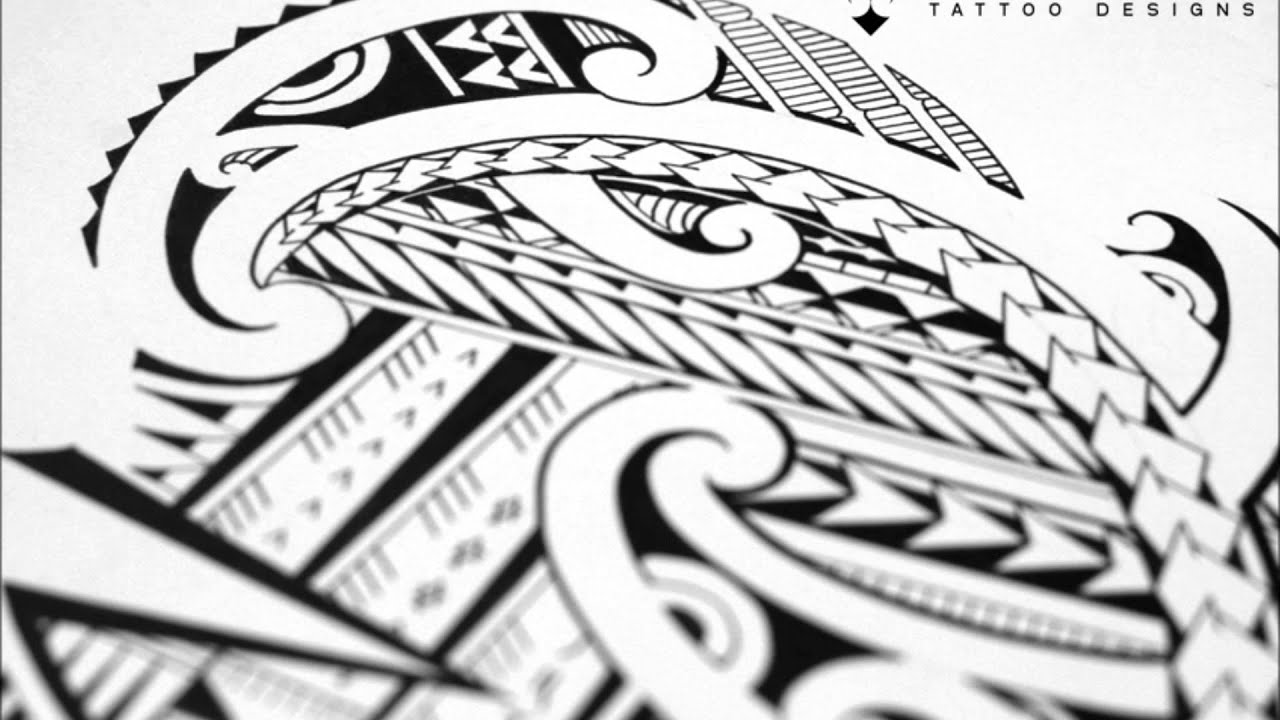 Drawing A Halfsleeve Tattoo With Maori And Samoan Patterns YouTube