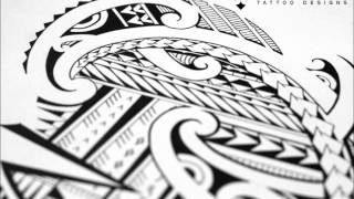 Drawing a halfsleeve tattoo with Maori and Samoan patterns