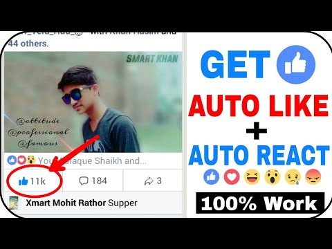 How To Get Real Auto Like, Auto React On Facebook Photo and Video😍 (Edit :  Not Working)