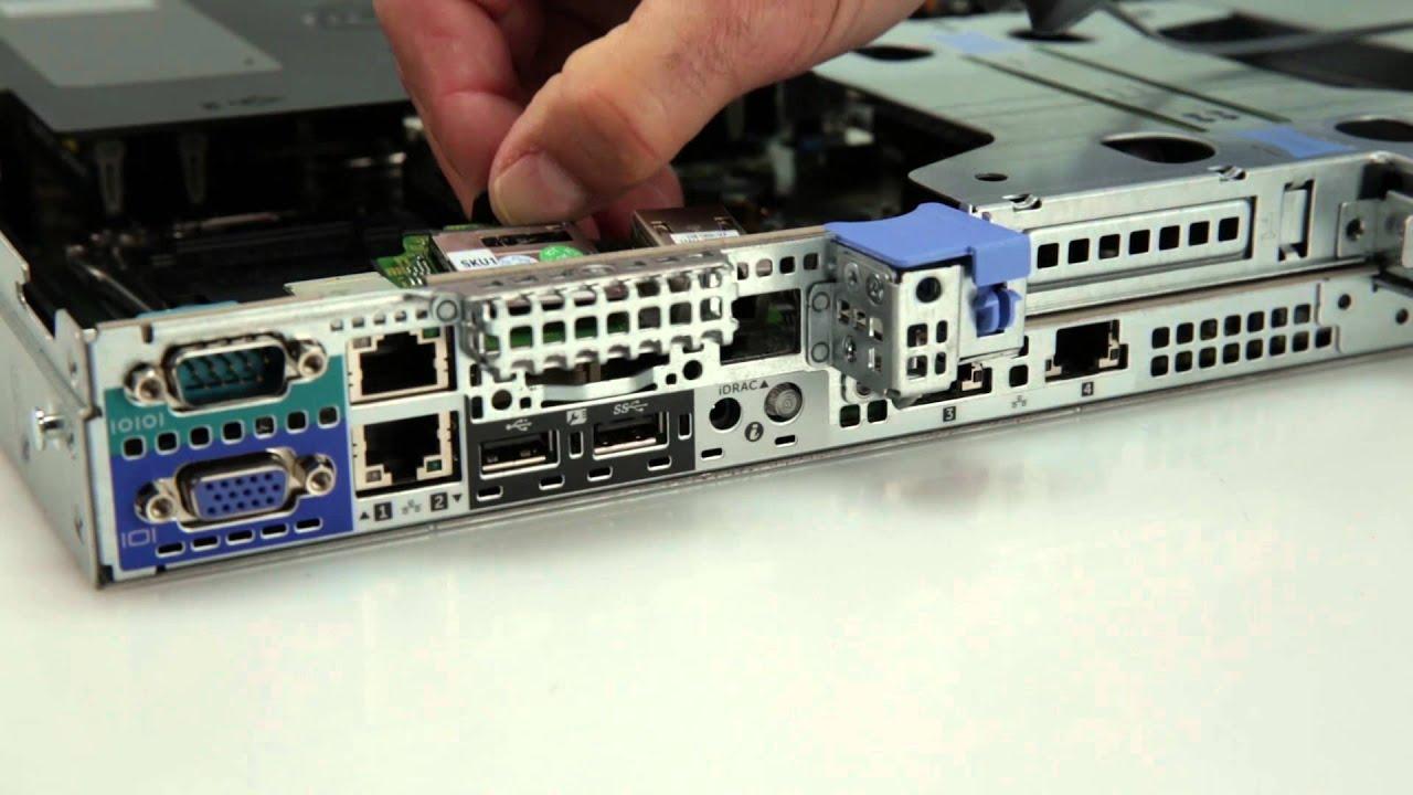 PowerEdge R430: Install iDRAC Port Card