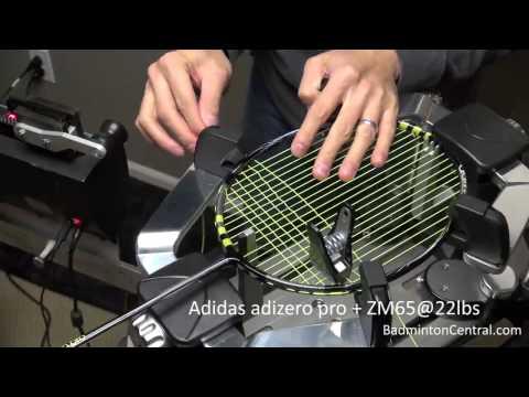 Badminton Stringing - Adidas adizero pro w/ ZM65@22lbs