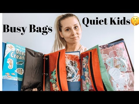 HOW TO KEEP KIDS QUIET FOR A LONG TIME//BUSY BAG BINDERS//DOLLAR STORE DIY//SUMMER ACTIVITES