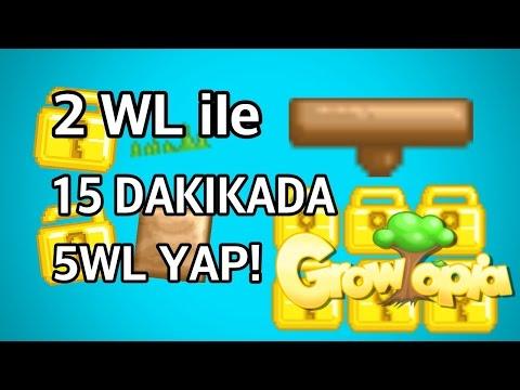 Growtopia - 15 DAKIKADA 5 WL KAZANMA!