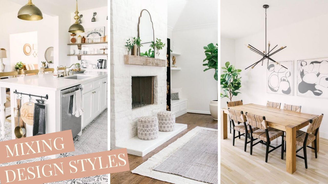How To Mix Design Styles In Your Home Interior Design Tips With Farmhouse Living Youtube