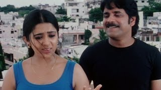 Charmy Kaur tries to impress Nagarjuna - Meri Jung One Man Army