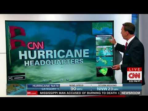Hurricane Nate crashes into the Gulf Coast, USA