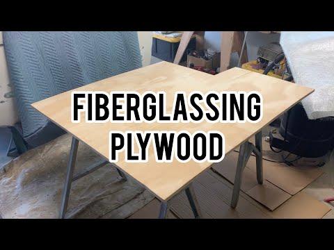 Fiberglassing plywood