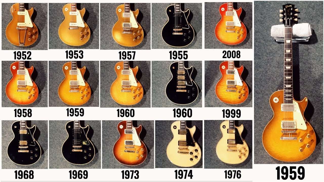 Vintage Gibson Guitars >> 15 Vintage Gibson Les Paul Guitars Comparison Years 52 53 55 57