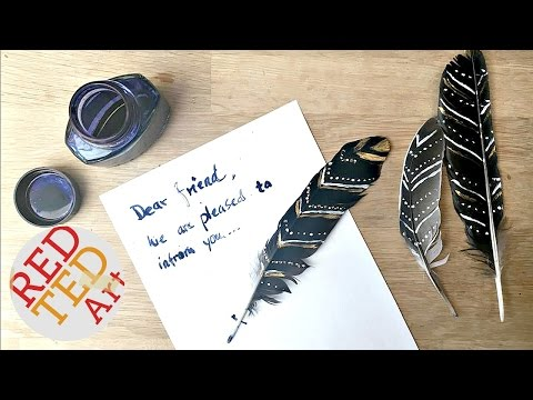 Harry Potter DIY Feather Quills (in anticipation of Harry Potter and the Cursed Child!)