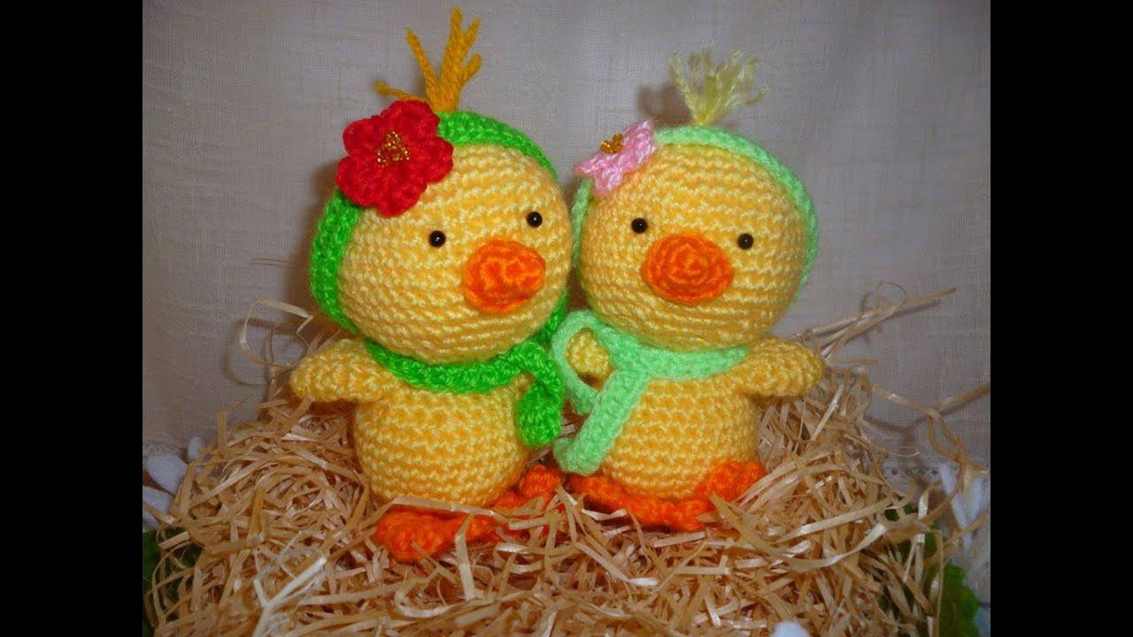 Amigurumi Duck Tutorial : Pulcino uncinetto amigurumi tutorial chick crochet duck