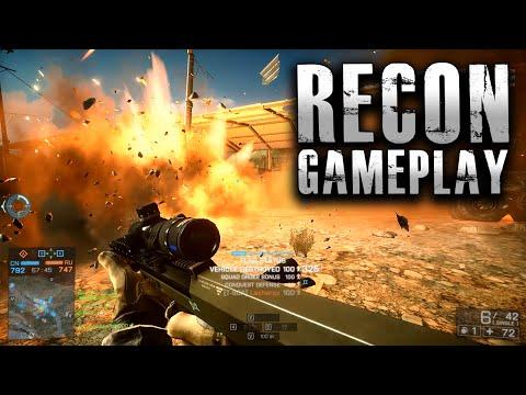 Battlefield 4 Recon Gameplay - C4, G18, Bolt Action Rifles