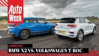 BMW X2 vs Volkswagen T-Roc - AutoWeek Dubbeltest - English subtitles