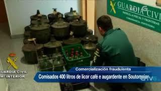 Comisan en Soutomaior máis de 400 litros de licores ilegais13 14:10:07