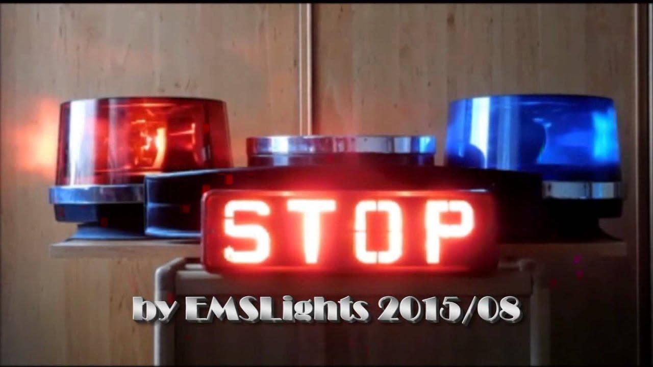 Police Escort Car Lighting