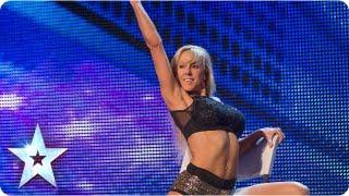 Keri Graham's chair exercises wow Judges - Week 1 Auditions | Britain's Got Talent 2013