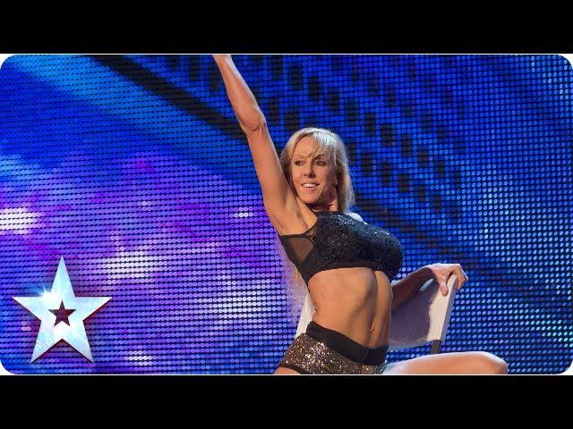 Keri Grahams chair exercises wow Judges - Week 1 Auditions | Britains Got Talent 2013