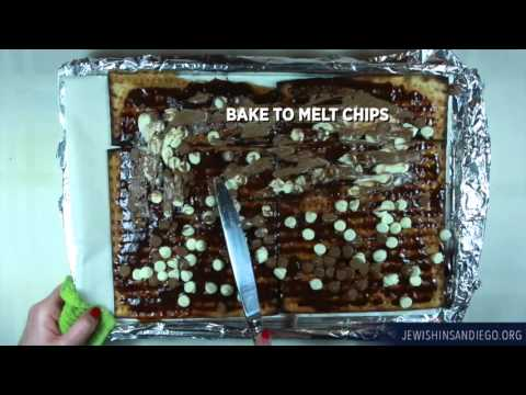 Passover recipe matzah candy