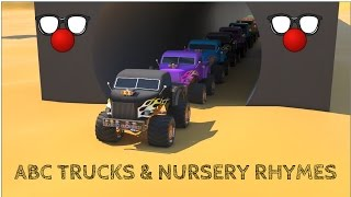 ABC Monster Trucks - Kids Learn ABC and Nursery Rhymes | Kids Songs and Car Videos - Children Songs