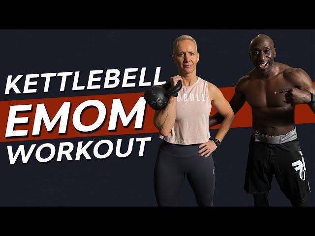Brutal 30 MIN Kettlebell Workout / EMOM Follow Along Circuit
