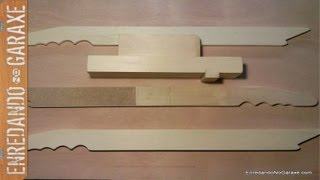 Como Hacer Empujadores De Madera. Easy To Make Push Stick And Push Block.