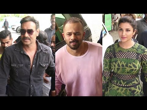 Ajay Devgn And Rohit Shetty GRAND ENTRY At...