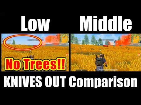 [荒野行動] KNIVES OUT Low/Middle Comparison [Android]