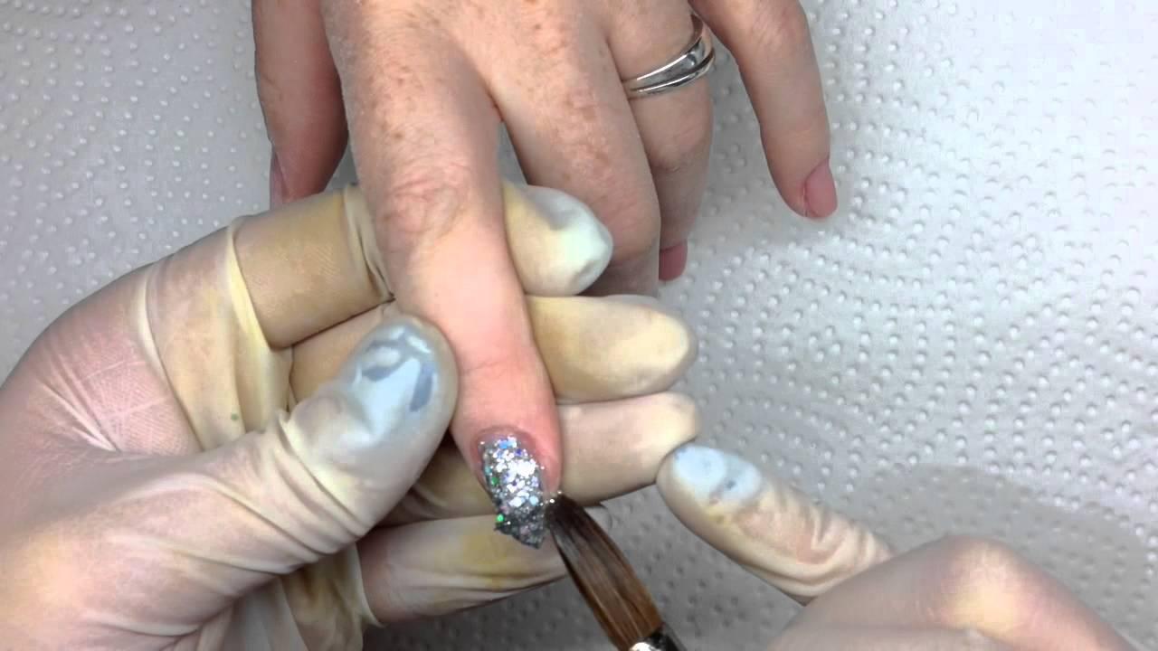 Acryl nagelmodellage elegantes Design - YouTube