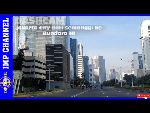 Dashcam driving downtown Jakarta City
