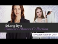 10 Long Style Women's Blazers Collection Amazon Fashion 2017