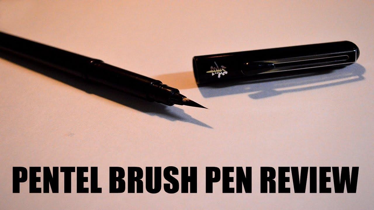 Pentel brush pen review how to use brush pen youtube