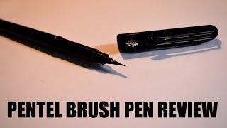 Pentel Brush Pen Review & How to use Brush Pen