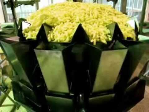 Linea para envasado de snacks extruidos