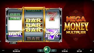 Mega Money Multiplier Slot Features and Game Play By Microgaming