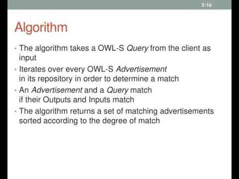 semantic matchmaking algorithm