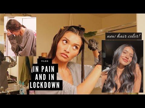 Dying my hair again + accidentally poisoning myself Vlog   Nicole Elise