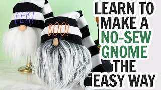 Make a Sock Gnome  No Sew Gnome Halloween or Any Holiday
