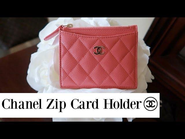 61d3da5962ef4b Chanel Zip Card Holder Review - YouTube