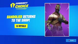 Bandolier Skin WINS First Ever VOTING SYSTEM Event in Fortnite!